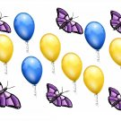 Butterflies and Balloons Flying