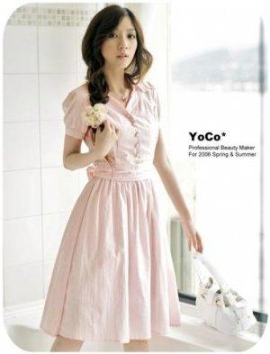Pink Cotton Dress D0403PP