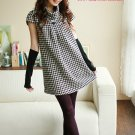 Short Checkered Taiwan Latest Fashion Doll Dress D0404KP