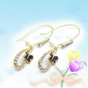 Large Shiny Korean Fashion Earrings E041125