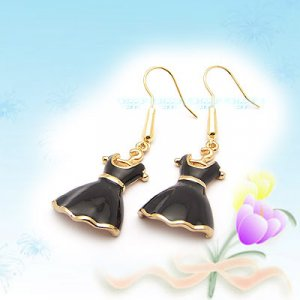 Unique Black Dress Earrings E040501