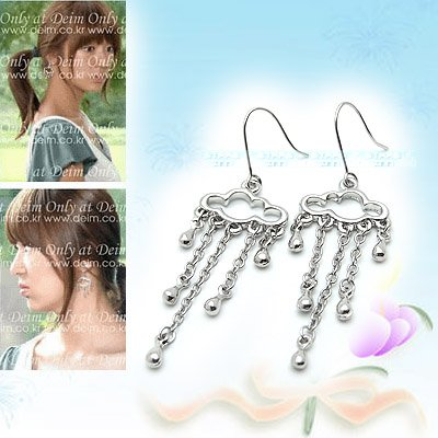 Unique Cloud and Raindrops Earrings E041114