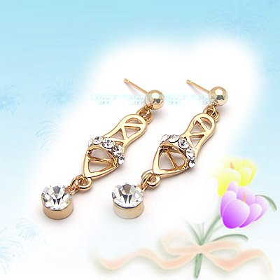 Unique Shiny Slippers Earrings E041823
