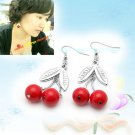 Eye Catching Red Cherry Earrings E041702