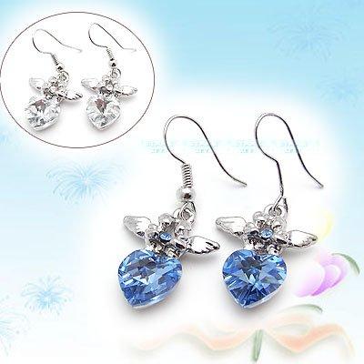 Diamond and Angel Wings Earrings E041901