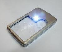 3X, 6X LED Light Credit Card Style Magnifier