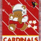Arizona Cardinals NFL Triple Woven Jacquard Throw ( Babby Series ) 36*48