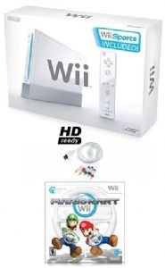 Nintendo Wii Sport Bundle HD Ready -with 5 Great Sports Games and Mario Kart