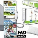 Nintendo Wii System HD Ready Ski & Fit - Wii Fit , We Ski, Balance Board Mat Bundle