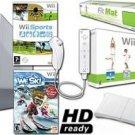 Nintendo Wii System HD Ready Ski & Fit - Wii Fit , We Ski, Balance Board Mat Bundle