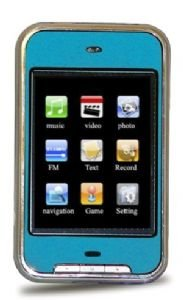 2GB Touch Screen Personal Media Player ( Blue )