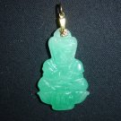 Green Jade 2-sided Guan Yin Pendant Quan Am Kwan