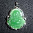 Green Jade Buddha Pendant Luck Fortune Hotei B1
