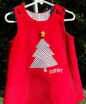 All I Want for Christmas Handmade Applique Little Girls Dress