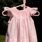 Flirty in Pink Handmade Smocked Little Girls Dress