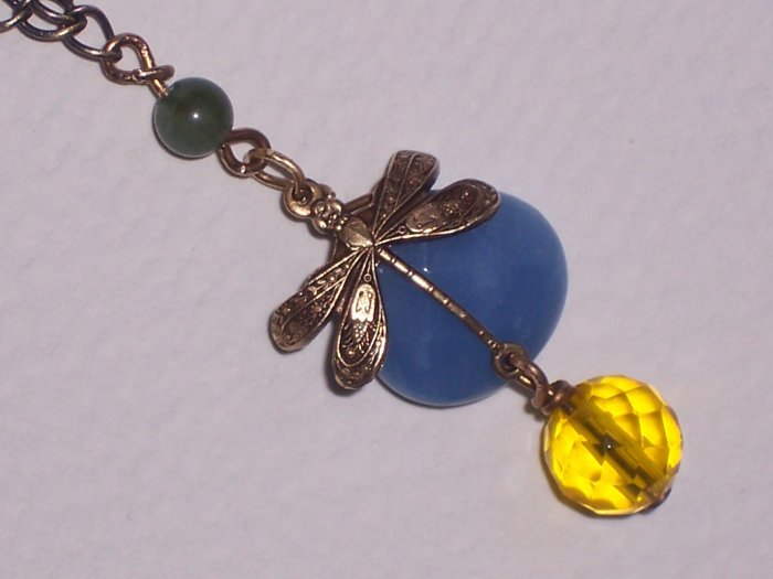 Antiqued Dragonfly Necklace on Spring Break