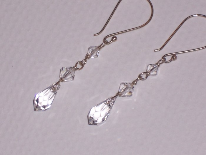 Bridal Sterling Silver and Swarovski Crystal Earrings