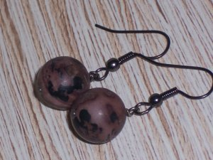 Jasper And Brass Earrings Gunmetal Finish FREE SHIPPING TO THE U.S.
