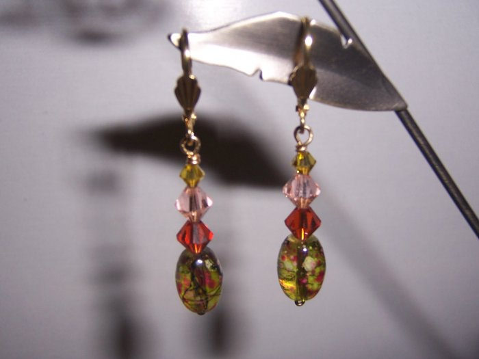Glass and Swarovski Earrings on Fall