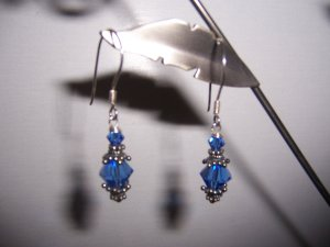 Sterling Silver Earrings with Swarovski crystals and Bali Silver findings