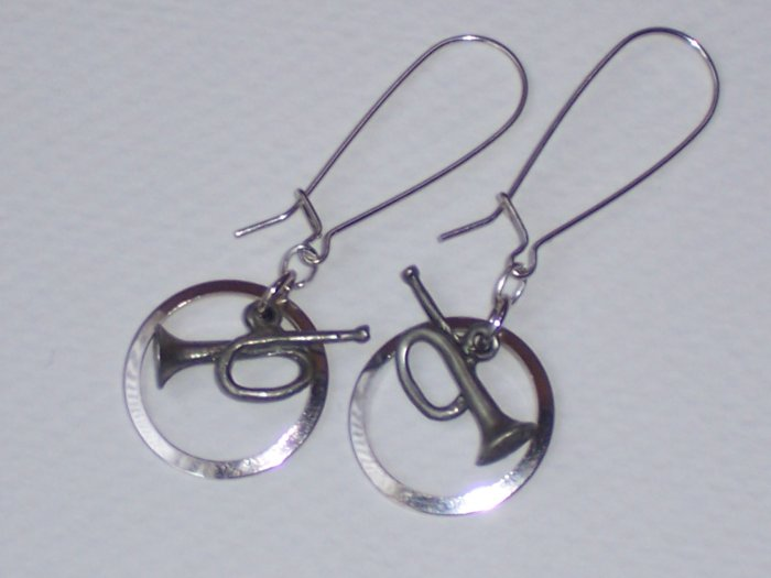 LETS PLAY THE HORN EARRINGS--FREE Shipping to the U.S.