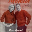 Vintage Bear Brand MOHAIR Hand Knit Fashions/Knitting Pattern Book!