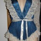 Vintage Onesie Deep V Teddy Slip w/Lace Trimmed Panties Sz. M