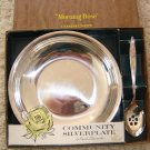 Vintage Morning Rose Community Silverplate Nut Spoon & Bowl in Box!