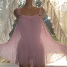 Victoria's Secret SISSY Pink SHEER CHIFFON Nightgown! M