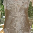 Vintage SILKY SATIN Onesie Slip (or Teddy w/Attached Panties) Sz. M
