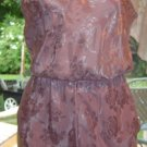 Farr West SILKY SATIN Floral Teddy Camisole/Slip Panties Combo! Sz. S
