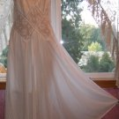 Vintage Gilead Bridal White Nylon & SHEER LACE Nightgown Sz. L
