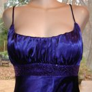 JUMP Apparel by Wendy Chaitin Purple Prom Gown, Satin & Sequins Sz. 9/10 EXC!