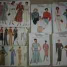 Vintage Vogue Sewing Pattern Lot (7 Patterns!) Very Easy, Basic Design, Sz 8/10/12 UNCUT!