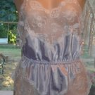 Nordstrom SILKY SOFT SATIN Teddy Onesie Gown attached Lace Panties SEXY! S/M
