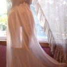 Vintage Old Hollywood Style Bridal Nightgown w/Sheer Chiffon Pleats, Sz. 36