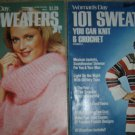 Vintage Woman's Day 101 Sweaters to Knit & Crochet Patterns (2 Magazines!)