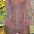 Vintage SISSY PINK Sheer, Frilly Lace Teddy Nightgown!! Sz. M