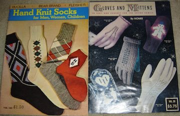 Vintage Knitting/Crochet Books: Hand Knit Socks & Gloves and Mittens