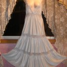 Gorgeous Blue Nightgown w/Sheer Lace! L/XL TALL