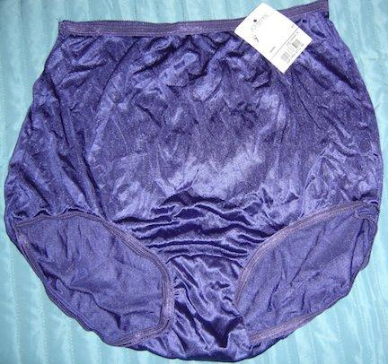 Vintage Adonna by JC Penney Soft Nylon Briefs Panties, Grape, Size 7