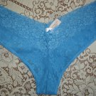 Victoria's Secret Blue Lace Bikini Panties, Sz. L; NWT!