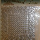 Whimsical Lace Silver Doilies, Sisson Imports, Made in Germany: Square