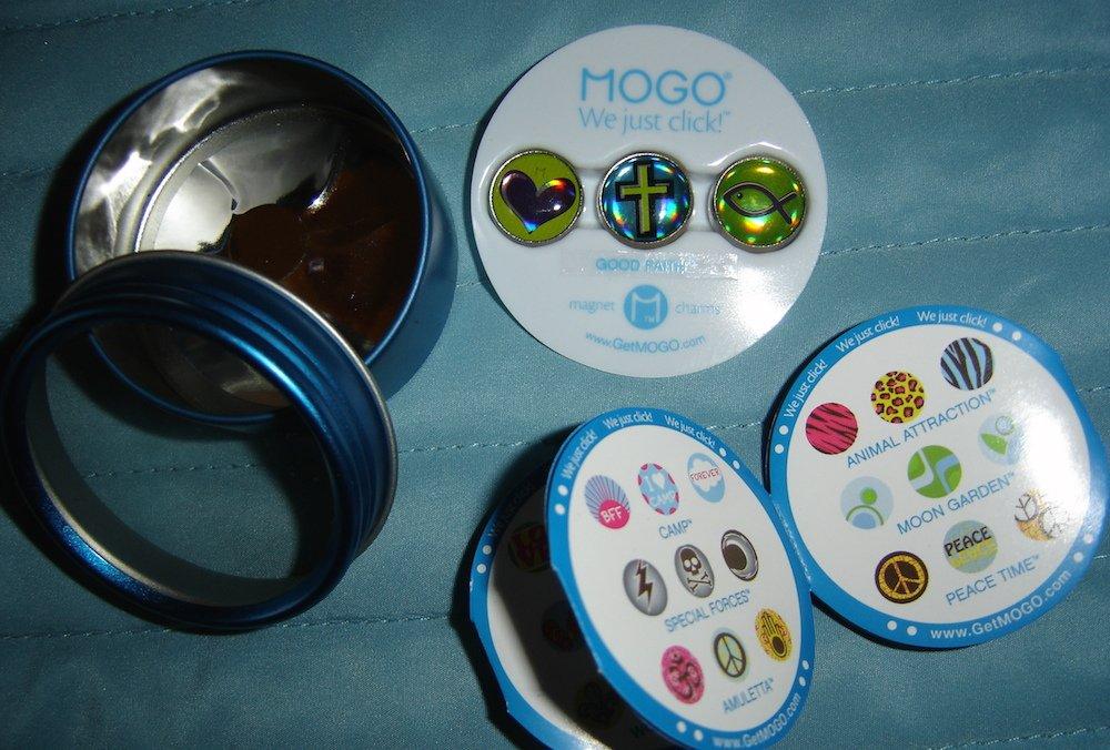 "MOGO Magnet Charms ""Good Faith"" (Christian Theme) New In Tin"