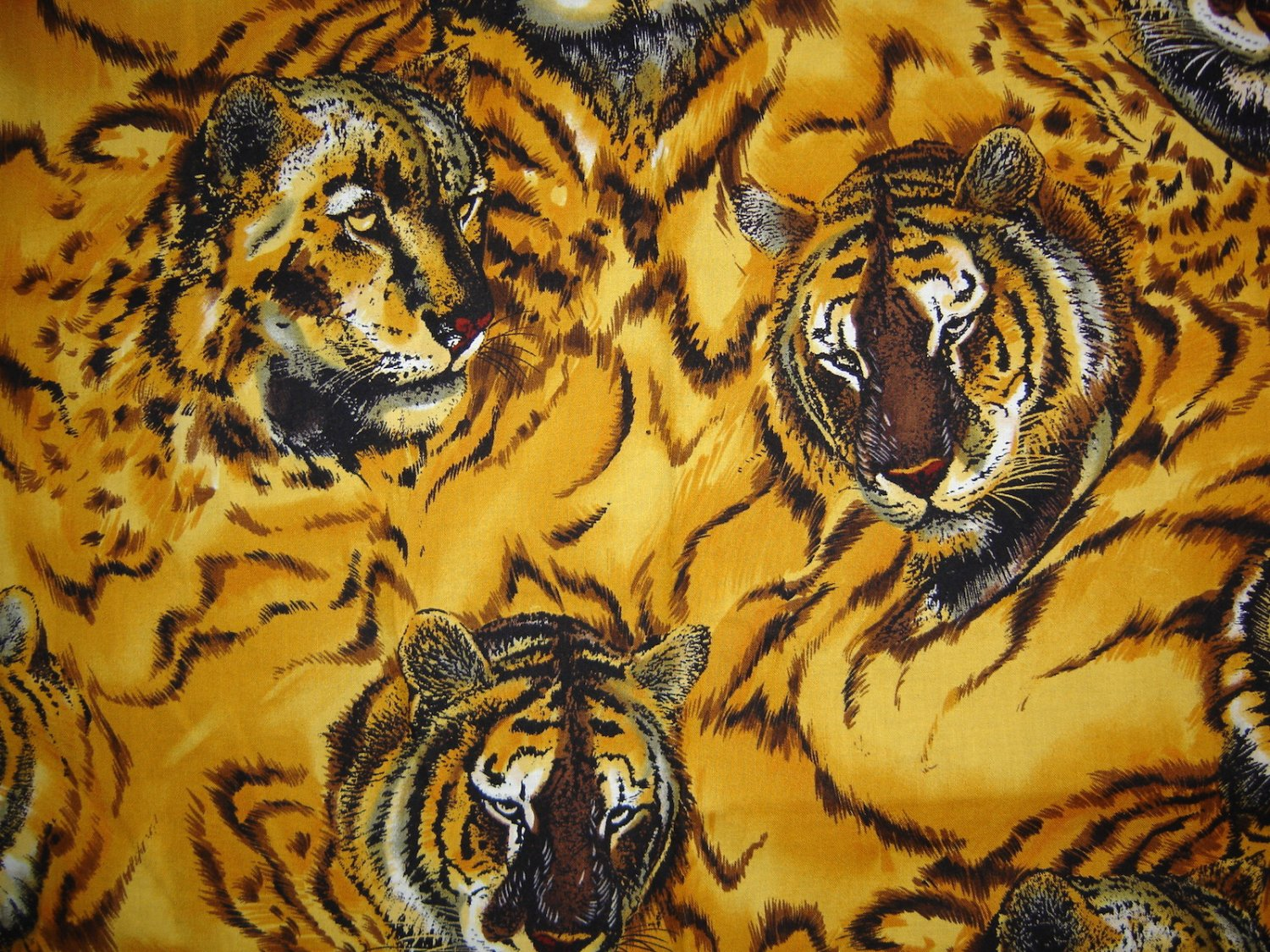 Vintage The Alexander Henry Fabrics Collection, 1993, Tiger Fabric