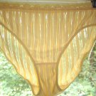 Vintage Delta Burke Yellow SHEER STRIPES Panties w/Stretch Lace Waistband, Sz. 8