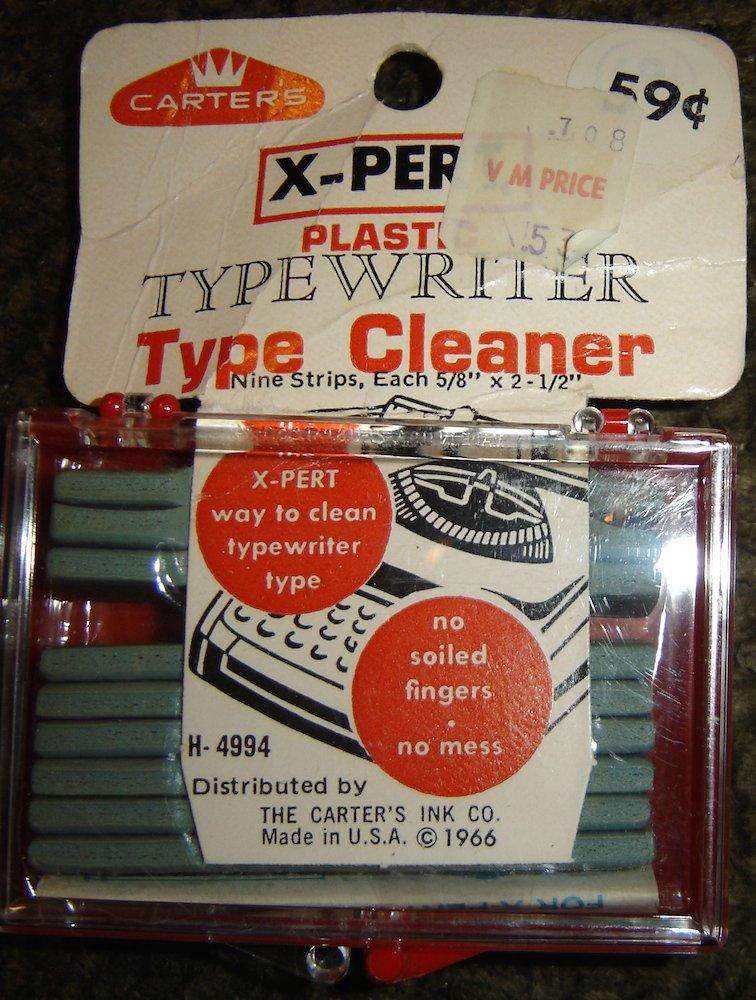 Vintage Carter's X-Pert Plastic Typewriter Type Cleaner, Dated 1966; NIP!