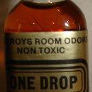 Vintage Bottle of 'One Drop'; Destroys Room Odor (Non Toxic), 1/2 Oz.