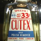 Vintage CUTEX Nail Polish in Glass Jar, 4.75 Oz.