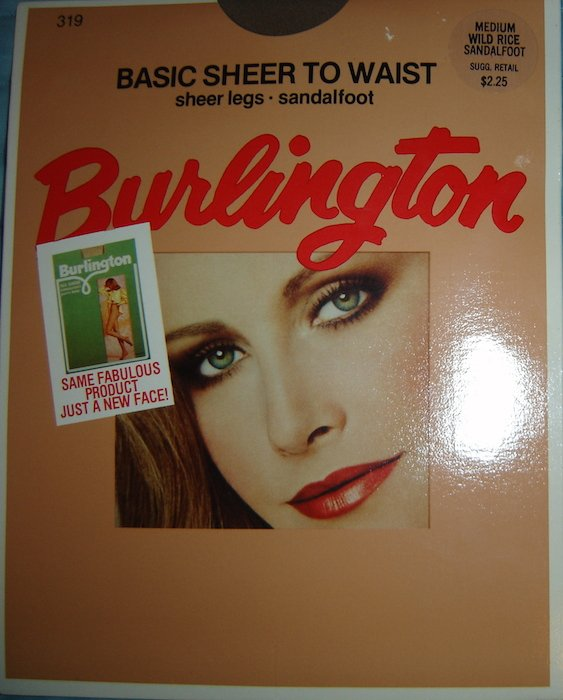 Vintage Burlington SHEER TO WAIST Pantyhose, Medium, Wild Rice